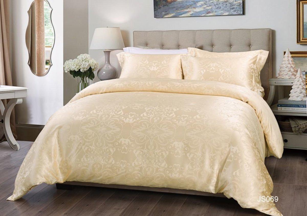 2500針 100%真絲色織緹花系列四件禮盒套裝 -4呎雙人(JS069GBS48)