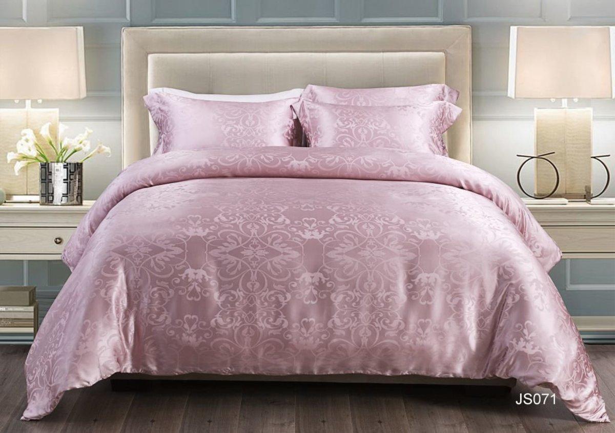 2500TC 100% Silk Yarn Dyed Jacquard Series Bedding Gift Box Set-Double (JS071GBS48)