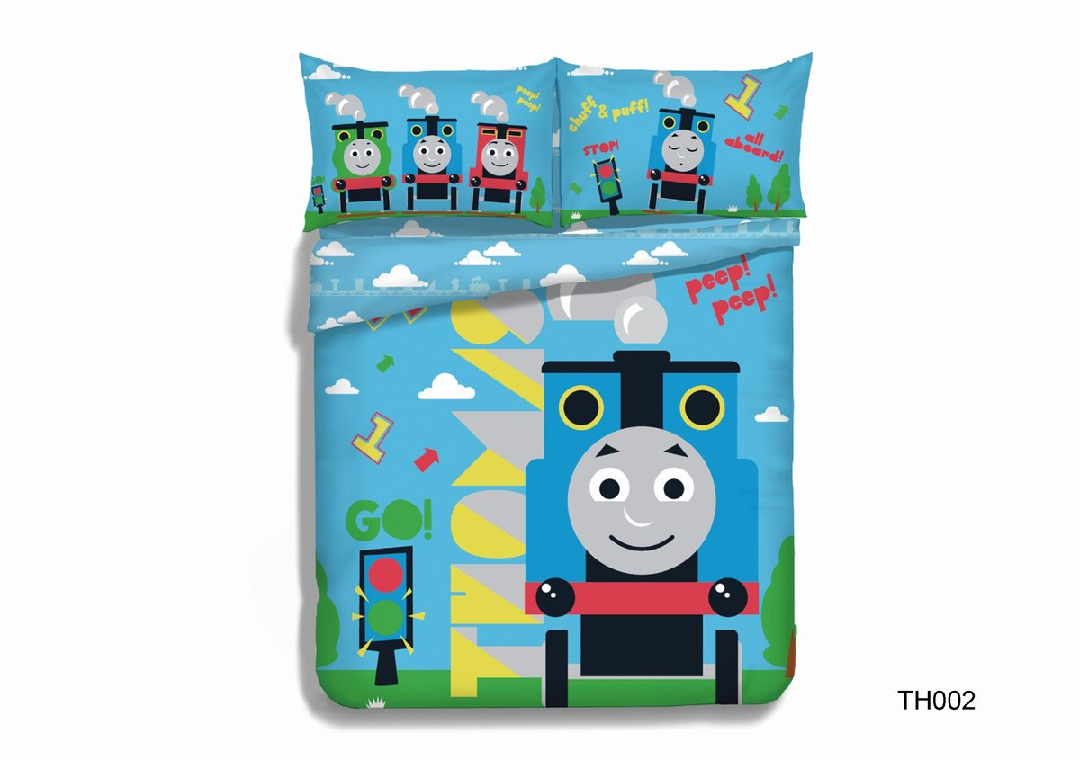 Thomas & Friends 卡通純棉印花被袋套裝(TH002GBS48)4尺雙人