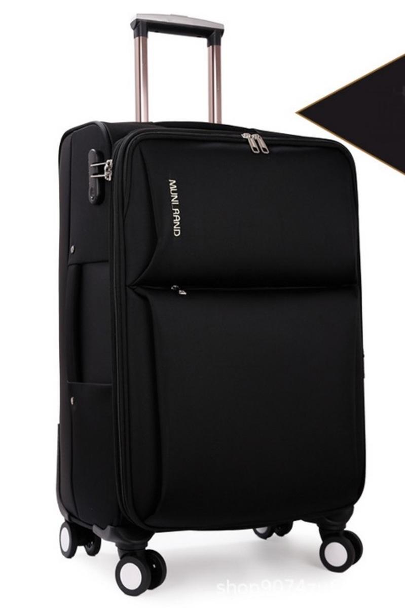 MR series oxford cloth soft suitcase 20 inch(BK)(068-20)