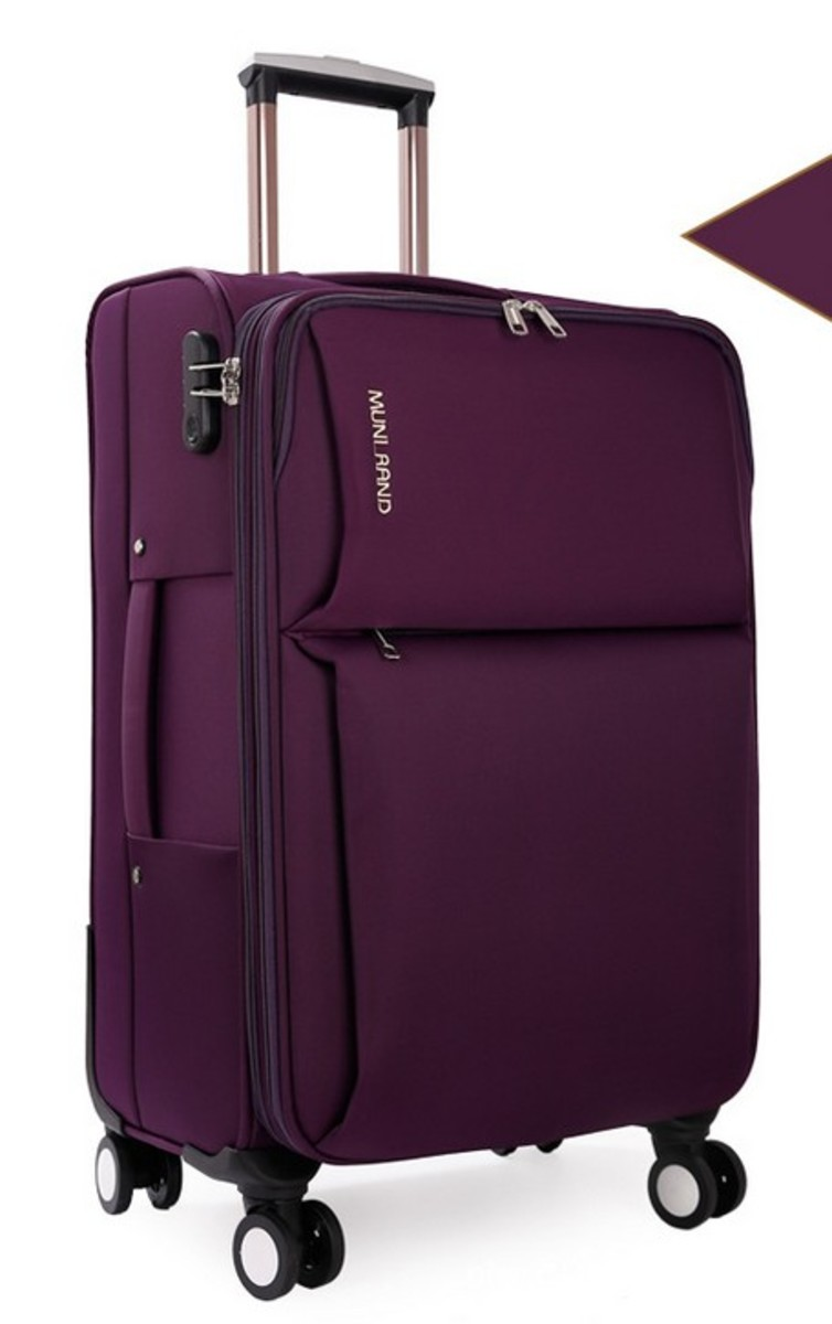 MR系列28吋牛津布軟行李箱(紫)(068-28)