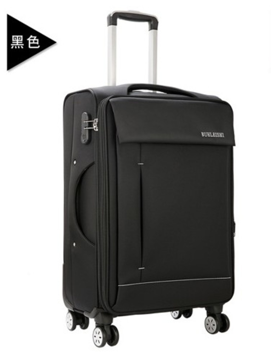 MR series oxford cloth soft suitcase 24 inch(BK)(092-24)