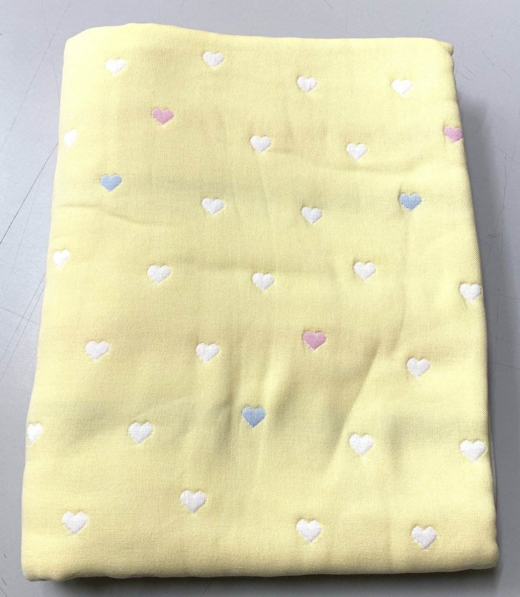 Six-layer yarn cotton baby quilt - 150D Yellow heart
