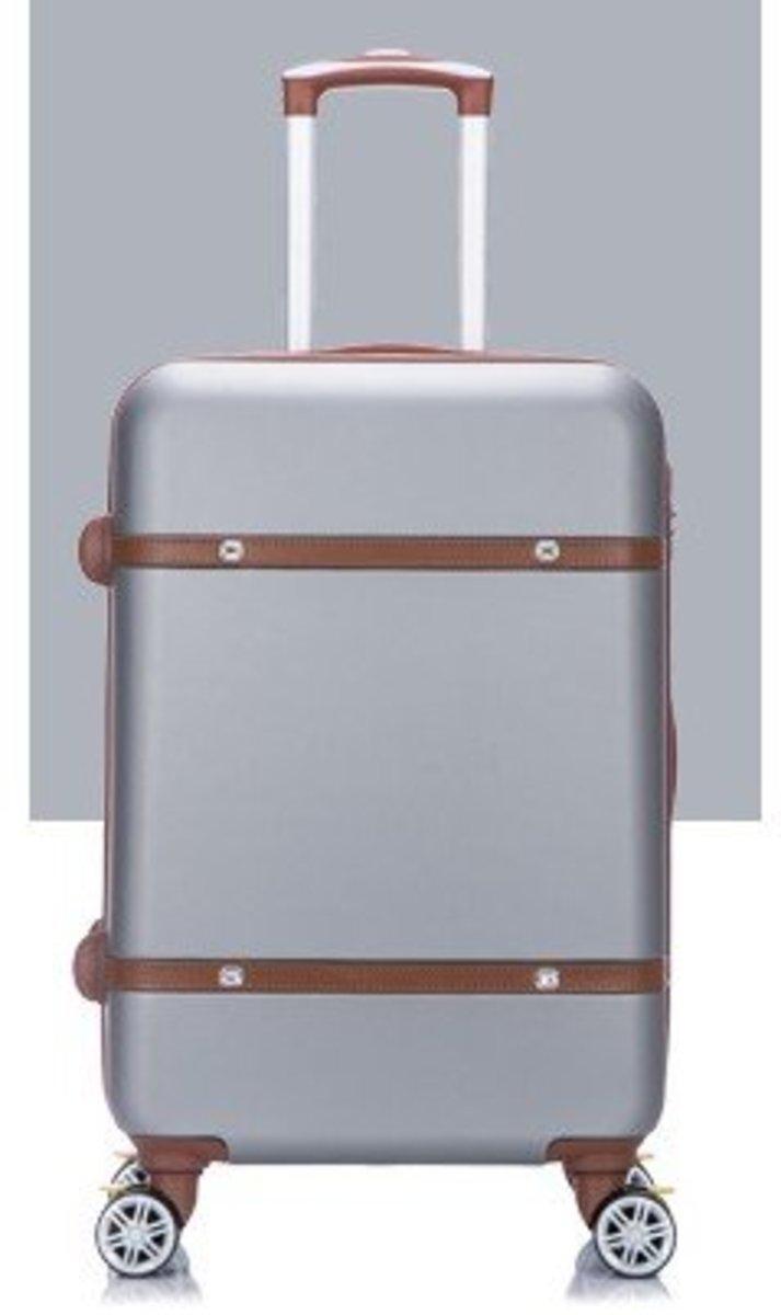 V系列20吋耐衝擊行李箱 (銀灰)(400-20)