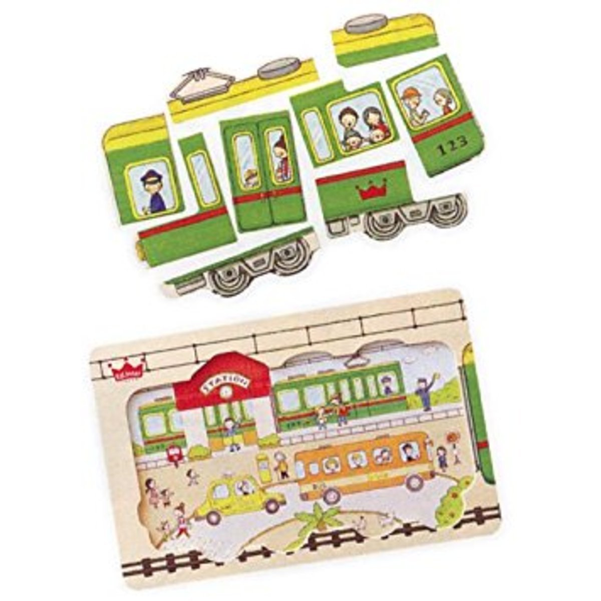 Forest play train puzzle(807859)