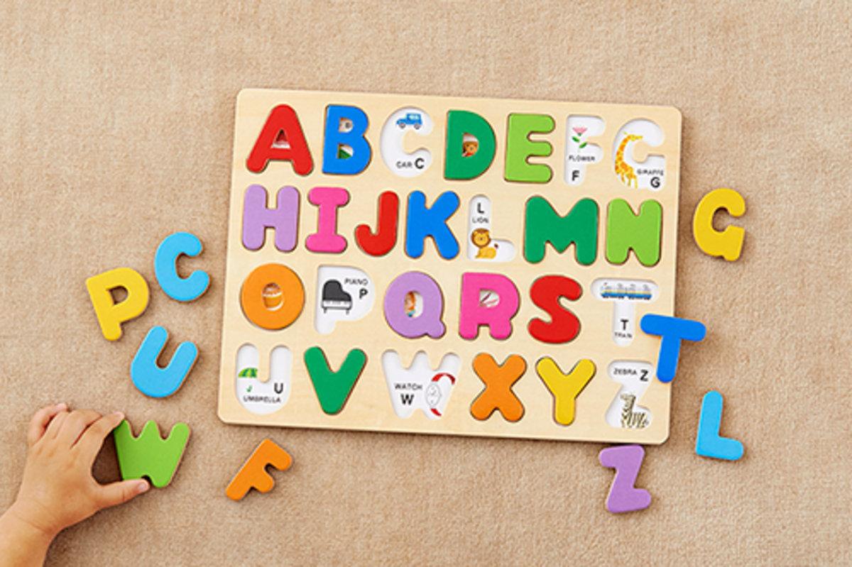森林遊玩新英文拼拼圖