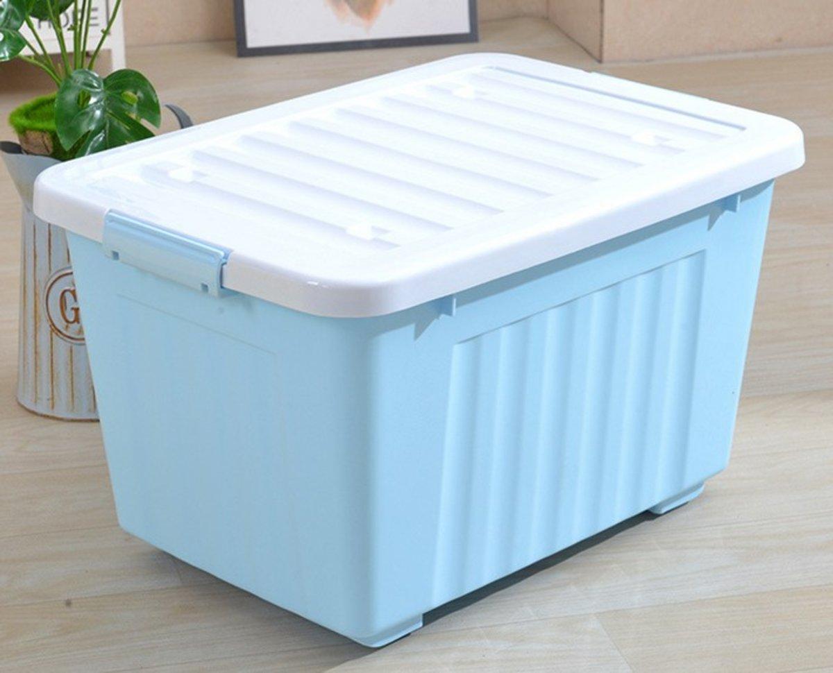 鎖扣特大儲物箱-藍色(5068BL)
