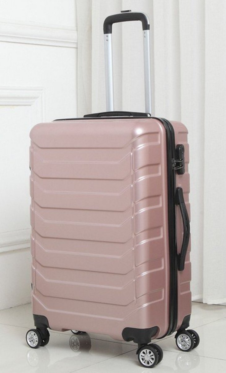 L series 20in impact resistant luggage - Rose Gold 520-20RG
