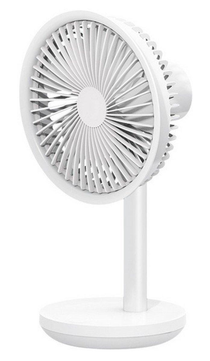USB Charging Silent Desk Fan - WHITE (F5-WH)