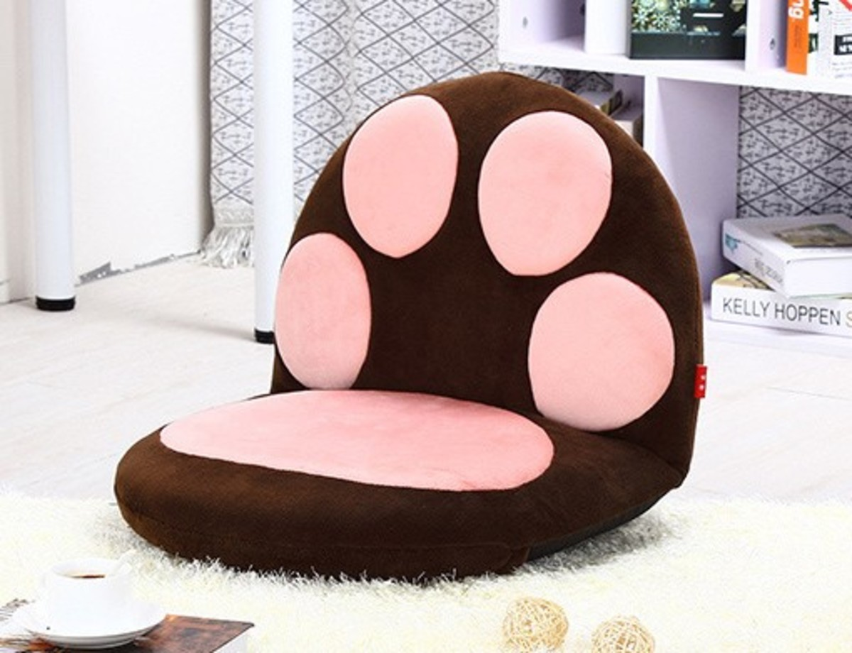 Cat meat ball lazy sofa (large) - brown (M02-BR)