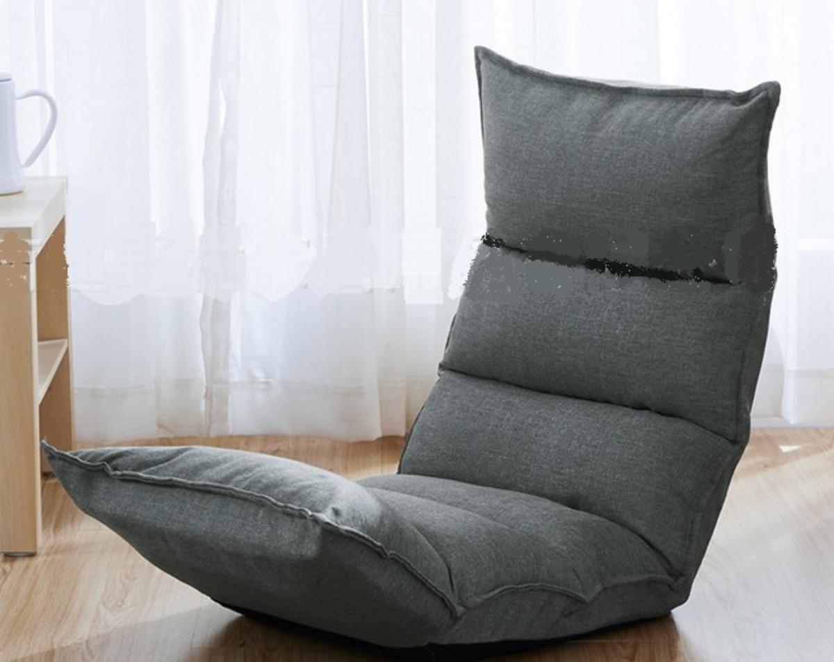 透氣舒適麻布懶人梳化-灰色(SPA02-GY)