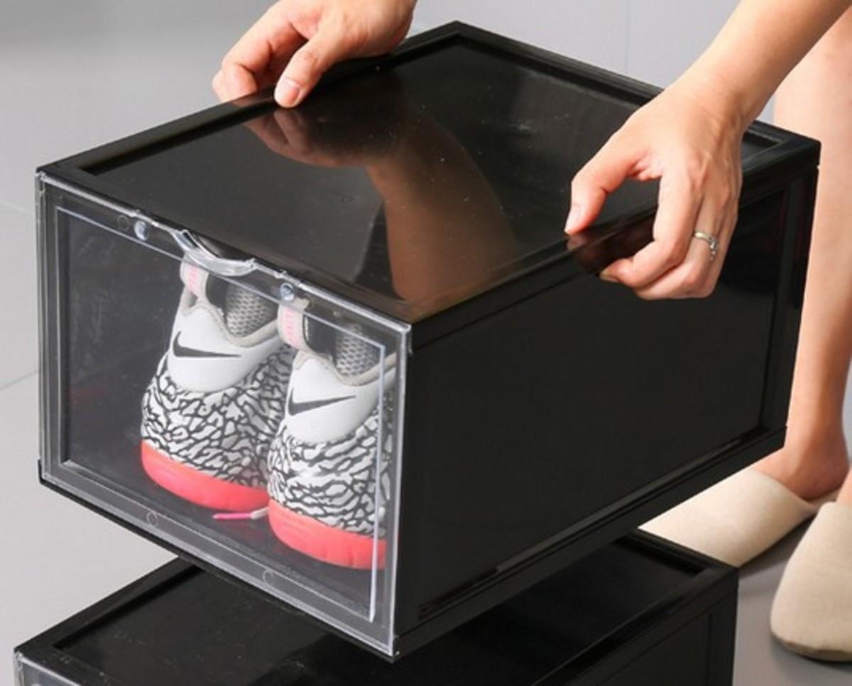 透明展示鞋盒(一個)-黑色(SB04-BK)