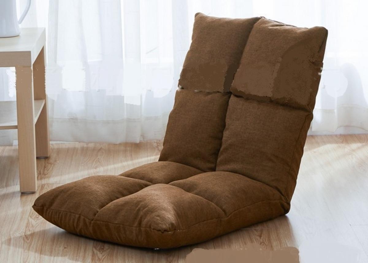 透氣舒適麻布懶人梳化-啡色(SPA01-BR)