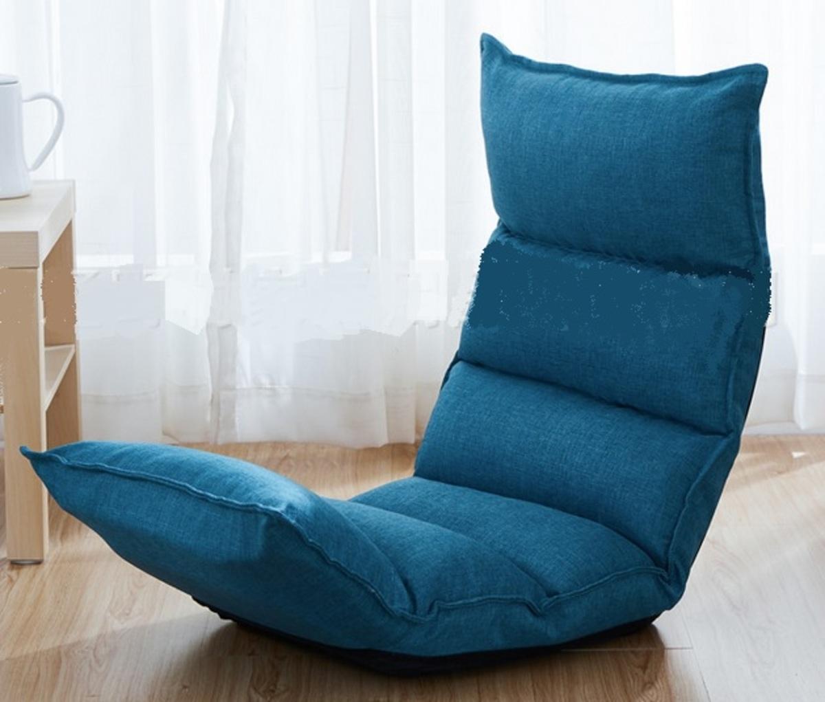 linen lazy sofa - blue (SPA02-BL)