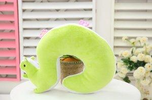 (贈品) 松鼠咕o臣U型枕 (綠色/粉紅色/淺啡色) - 隨機顏色