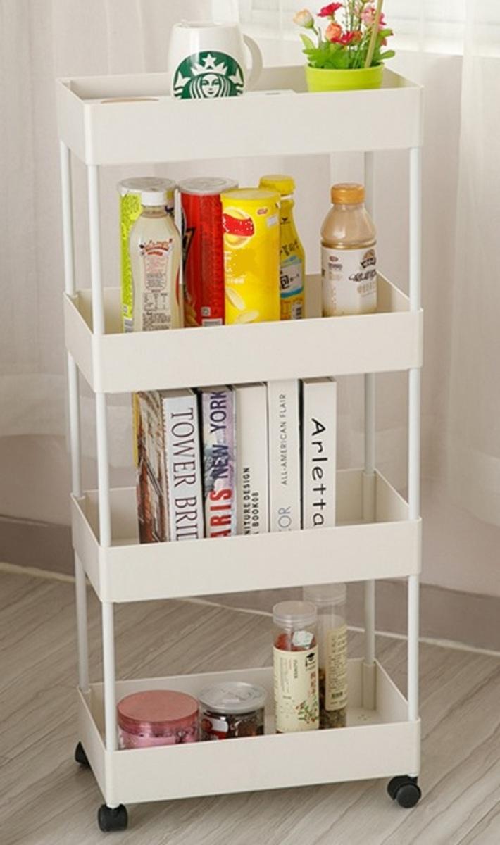 3 layer removable storage shelf - white (XNR-95-WH)