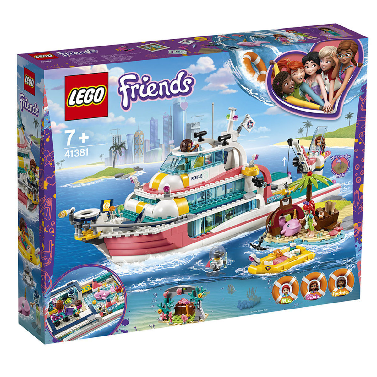 LEGO®Friends 41381 Rescue Mission Boat (Ferry, Girl)