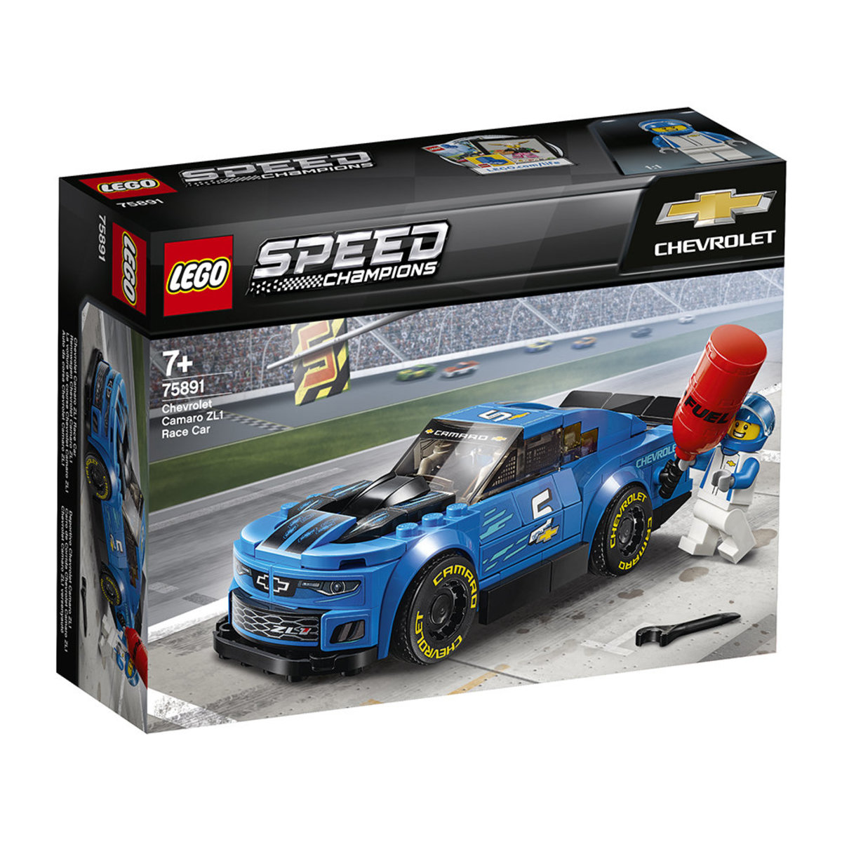 LEGO®Speed Champions 75891 Chevrolet Camaro ZL1 Race Car (Racing, Car)
