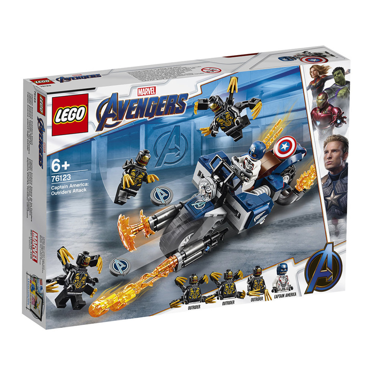 LEGO®Super Heroes 76123 Captain America: Outriders Attack (Marvel, Avengers)