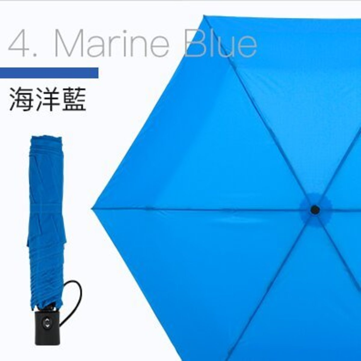 VERYKAL- extremely light one-button automatic folding umbrella - Marine Blue