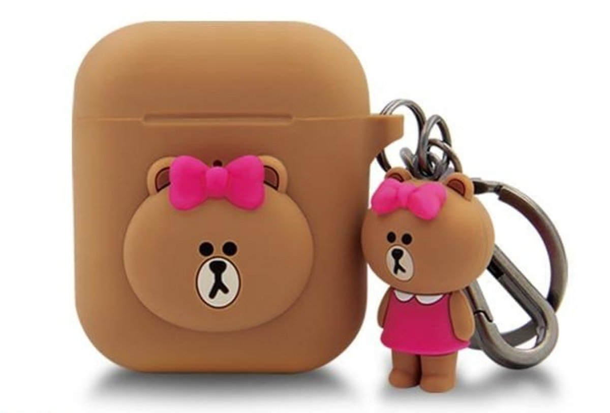LINE FRIENDS AirPods Case with Keychain