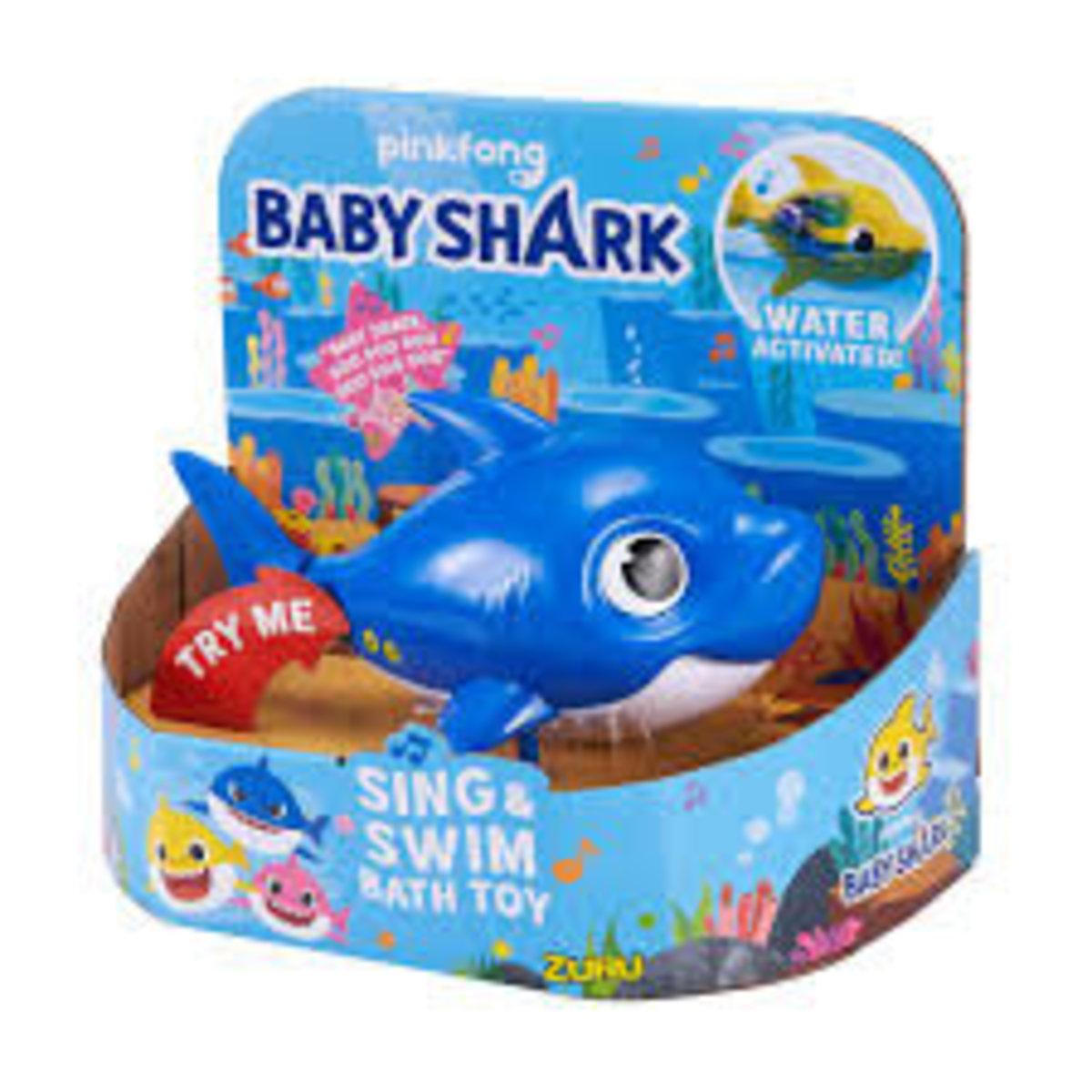 Baby Shark Sing & Swim Bath Toy - Blue (Daddy)