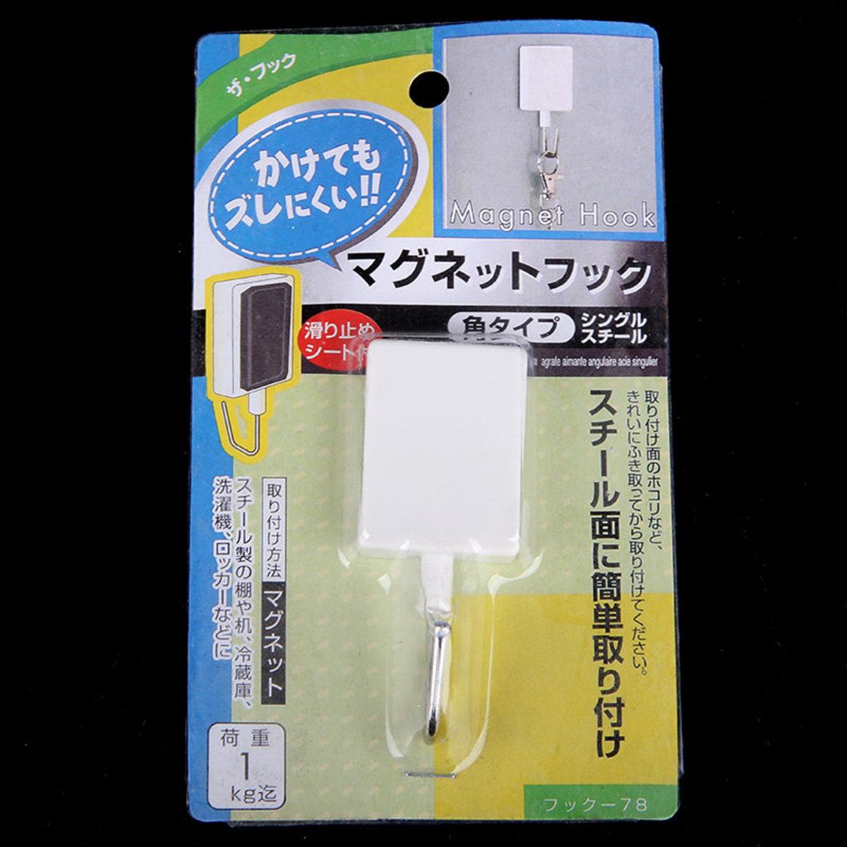 日本KOMEKI.78 - 長方形磁鐵掛鉤(限重1kg)