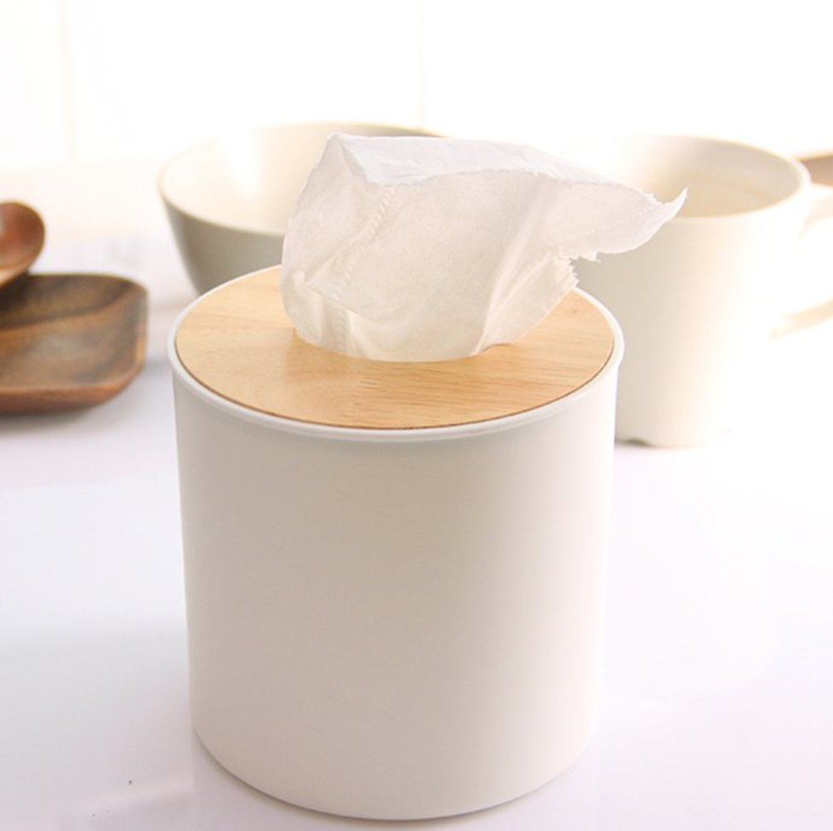 3334 Wood cover roll tissue box