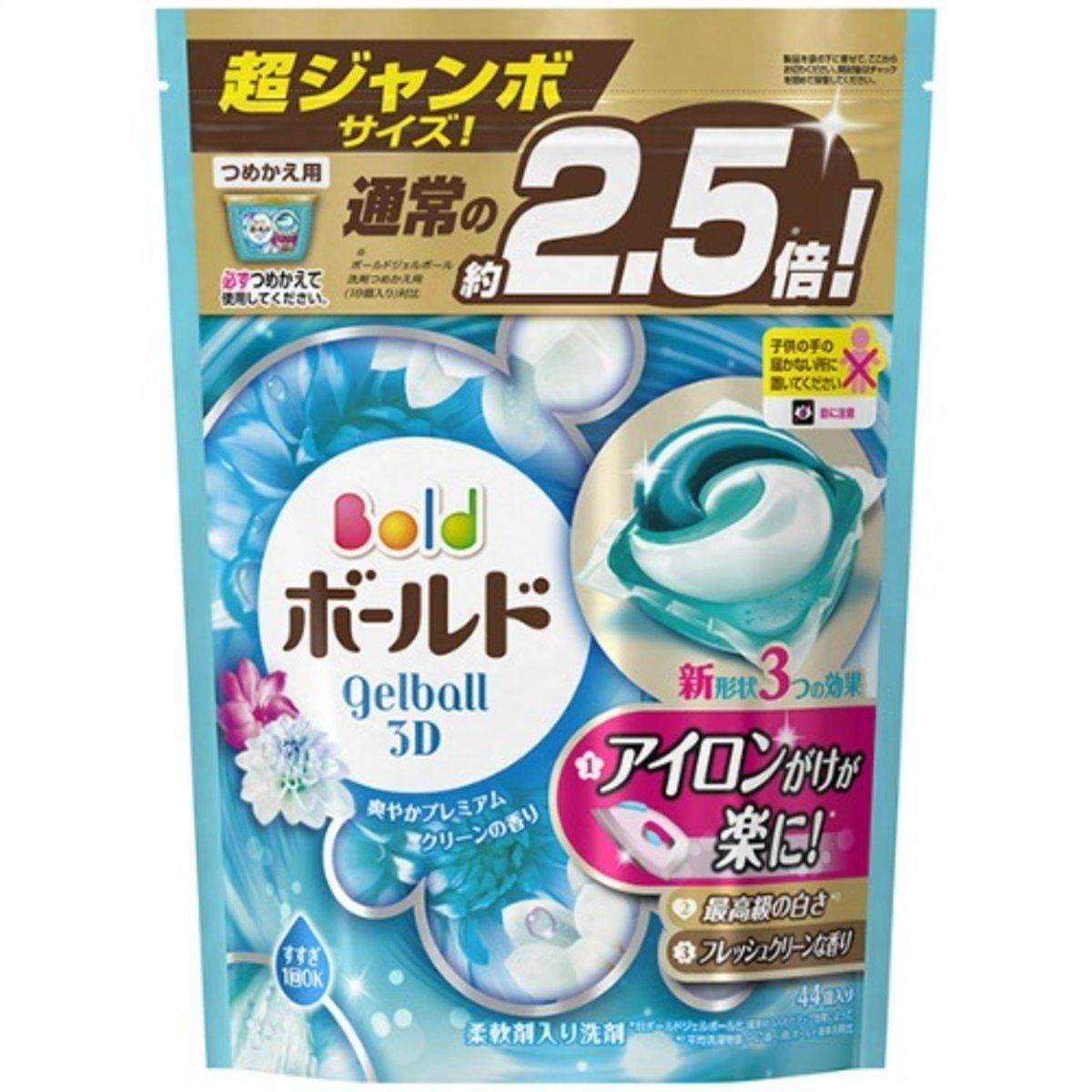新版日本P&G 3D 白葉花香花香洗衣 (44粒補充裝) 粉藍色[平行進口]
