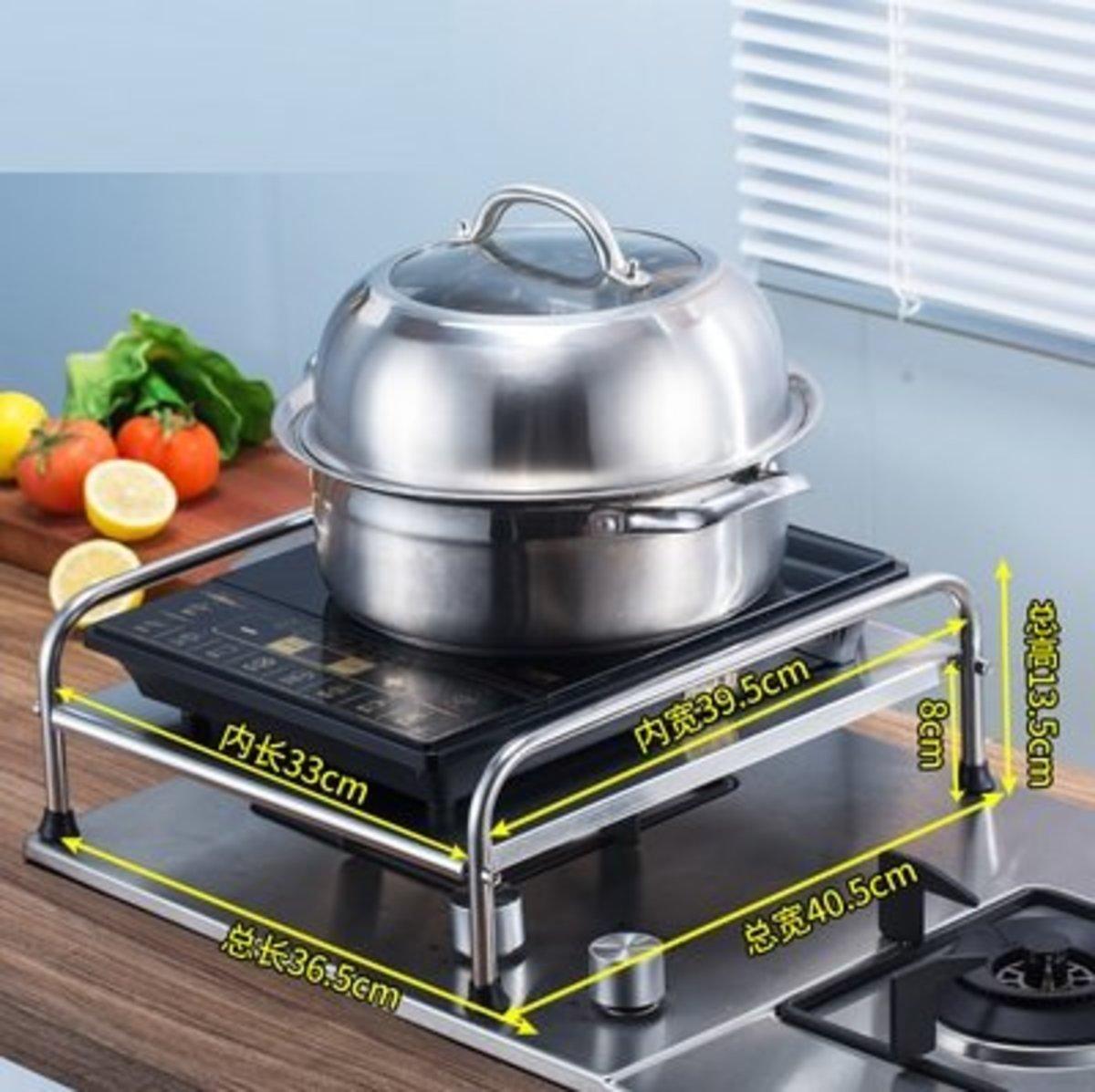 不銹鋼廚房單層置物架電磁爐支架架子 煤氣灶台架燃氣灶蓋板 鍋架 (ZWJC0050)