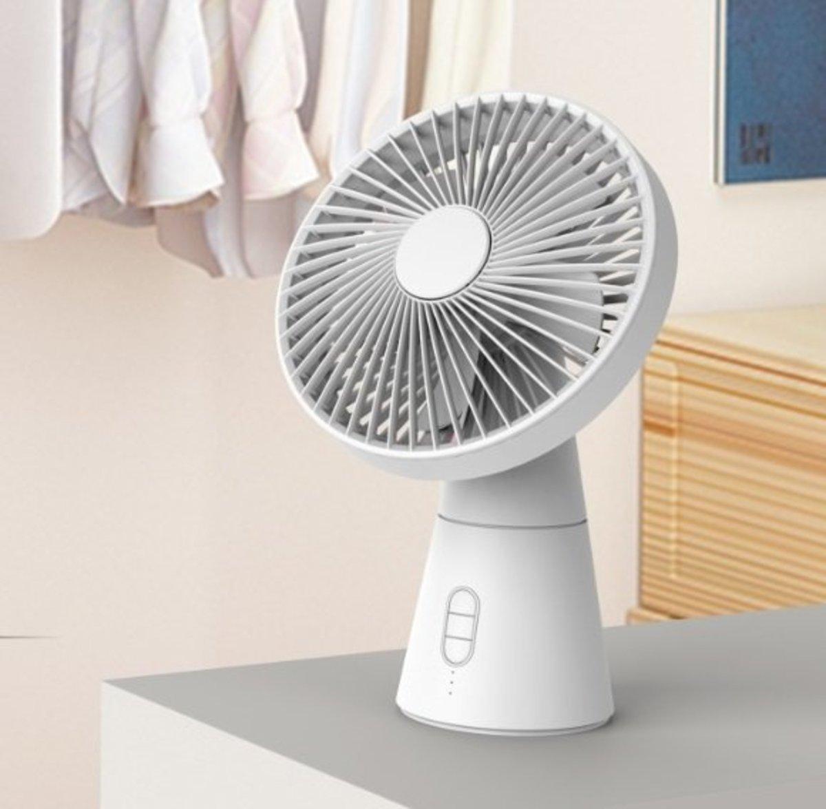 Desk Fan 無缐座枱 香薰枱燈 風扇 - 白色 (801-462)