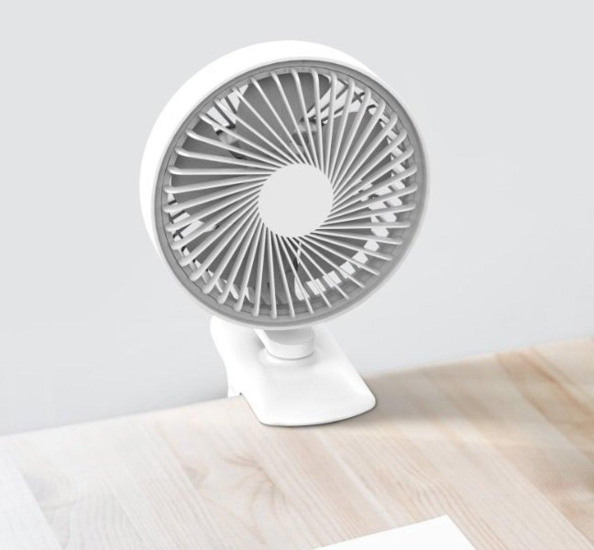 CLIP Fan 夾扇 坐枱風扇 充電風扇 靜音 白色 (801-277)