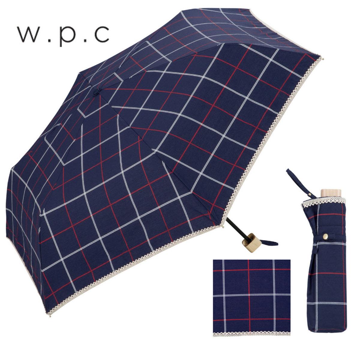 """防UV及隔熱能力兼備‧日本雨傘專家  - """"格子""""藍色優質輕巧縮骨遮"""