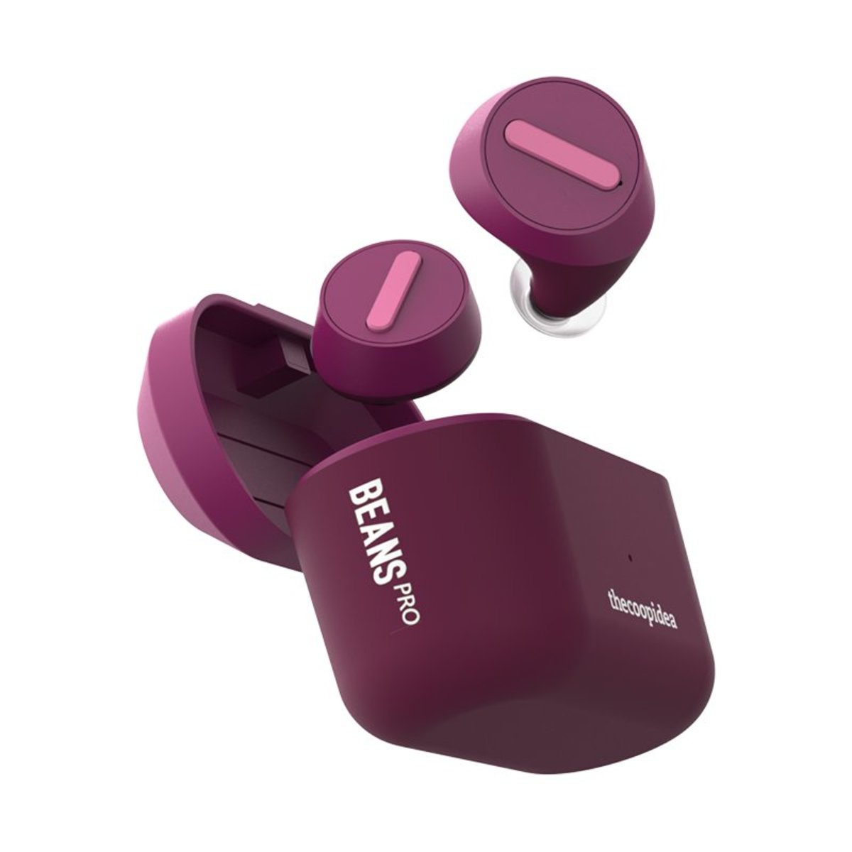 BEANS PRO Active True Wireless Earphones with Wireless Charging Case ( Pink)
