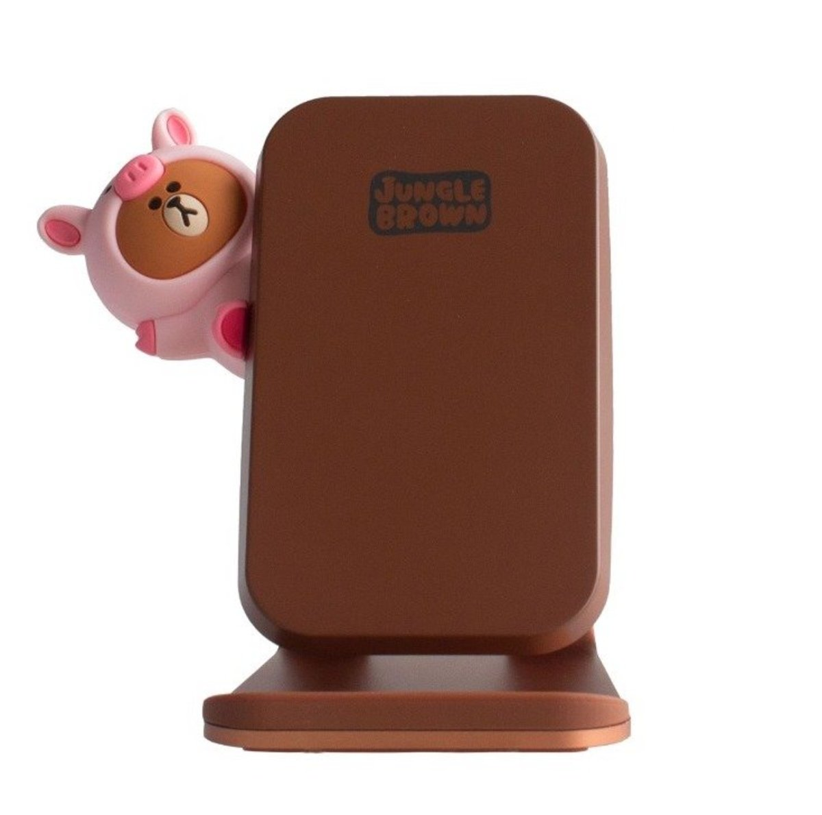 10W/7.5W Fast Wireless Charging Stand - Piggy Brown