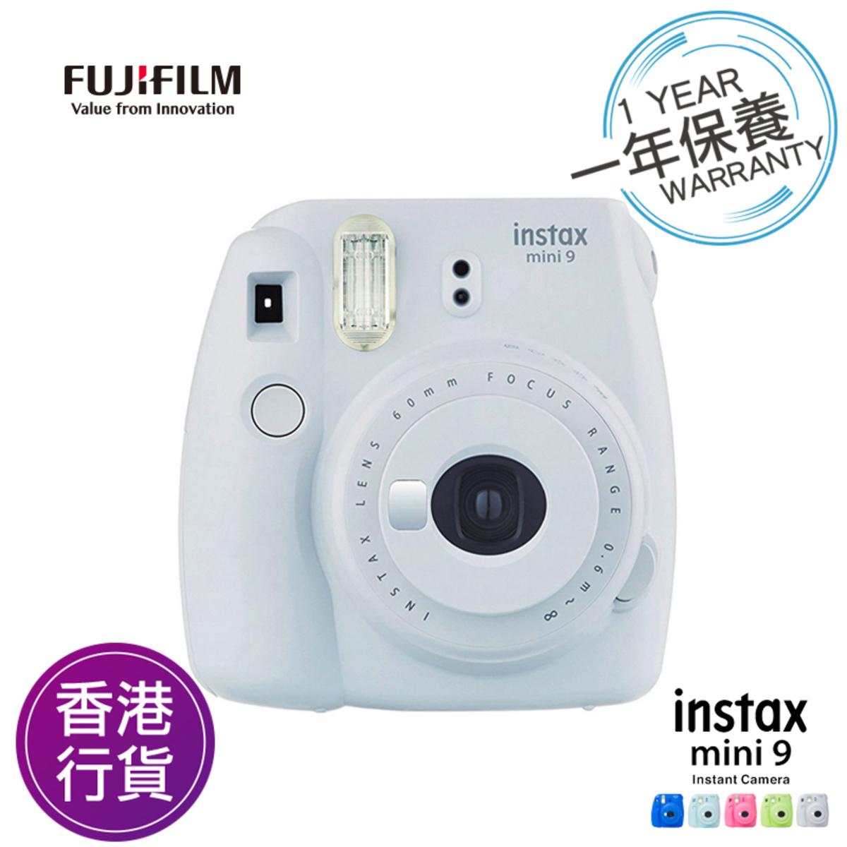 香港行貨保用一年 Fujifilm Instax mini 9 煙灰白 富士即影即有相機
