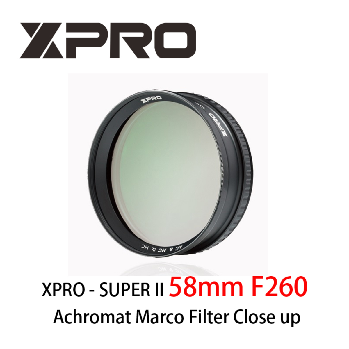 SUPER II 58mm F260 Achromat Marco Filter Close up 近攝鏡