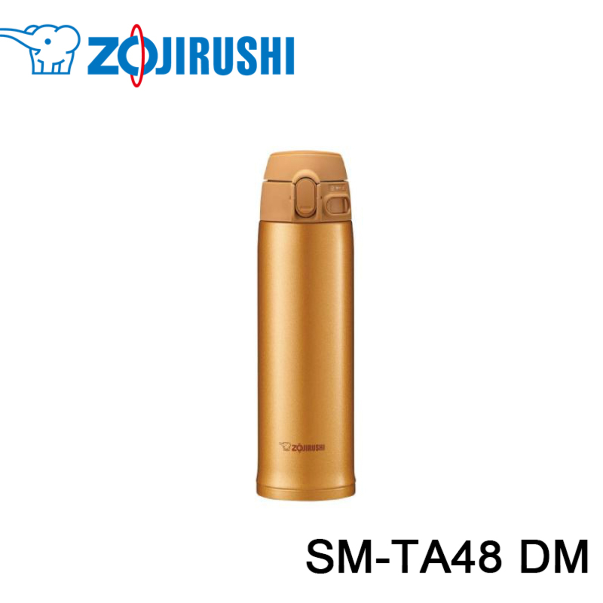 ONE TOUCH 超輕量 真空保溫杯 SM-TA48 (480ML) 金色