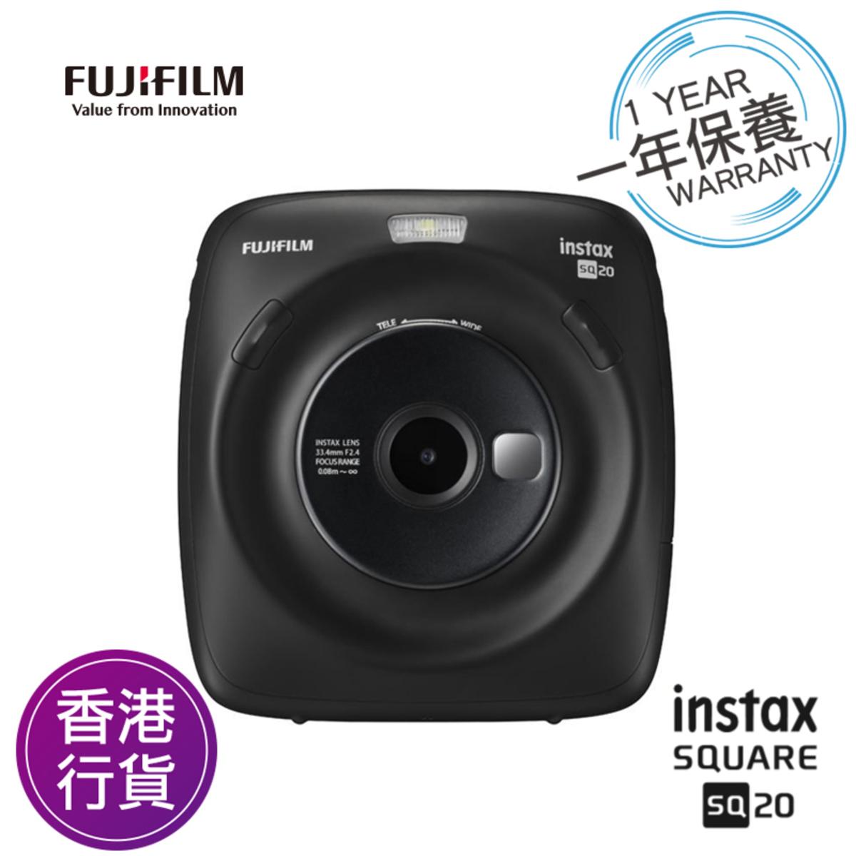 香港行貨一年保養 Instax Square SQ20 即影即有相機 黑色