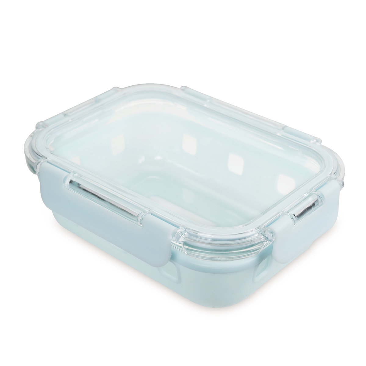 Glass food container with silicone sleeve - FC1G640SS