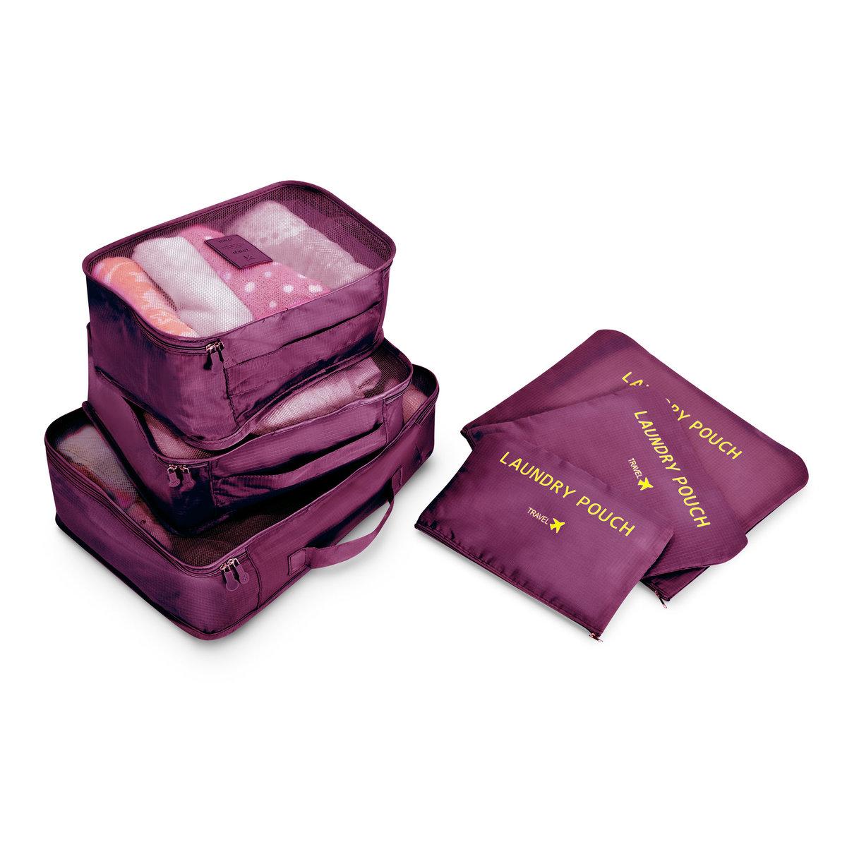 travel bag 6pcs set(deep purple) - TSB6DPR