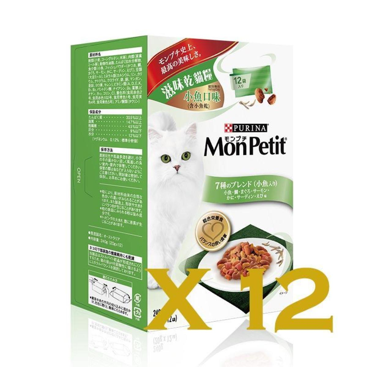 Luxe滋味乾貓糧小魚口味(含小魚乾)盒裝240g(20gx12袋)-12盒