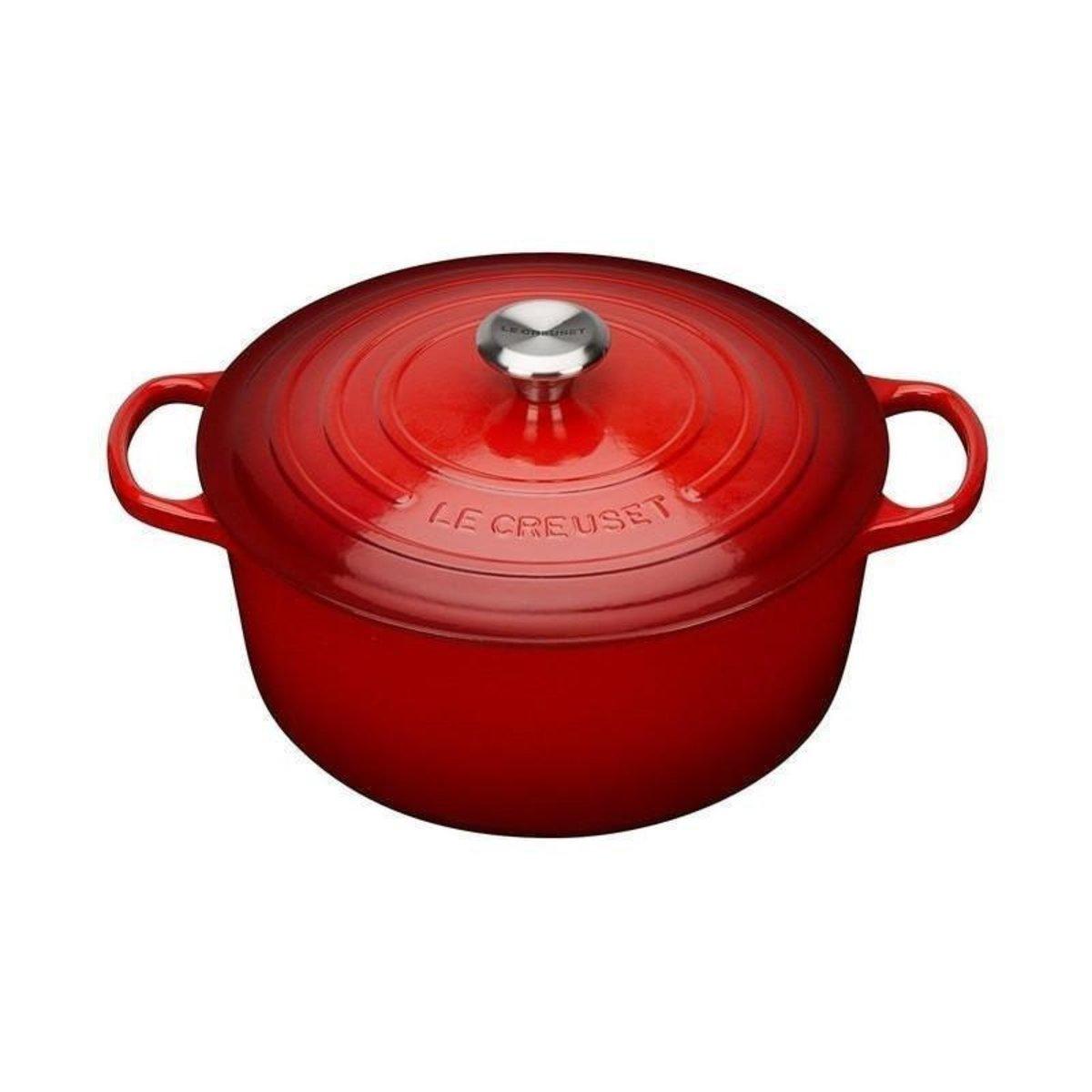 鑄鐵鍋 紅 Cerise - 18cm