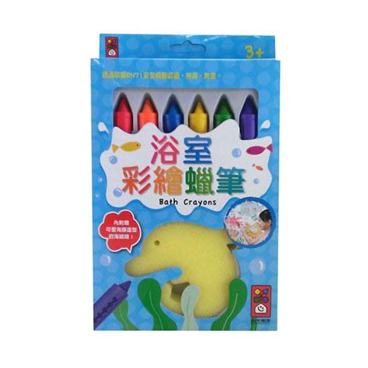 Publishing Bathroom Painted Crayons (6pcs) Taiwan Import