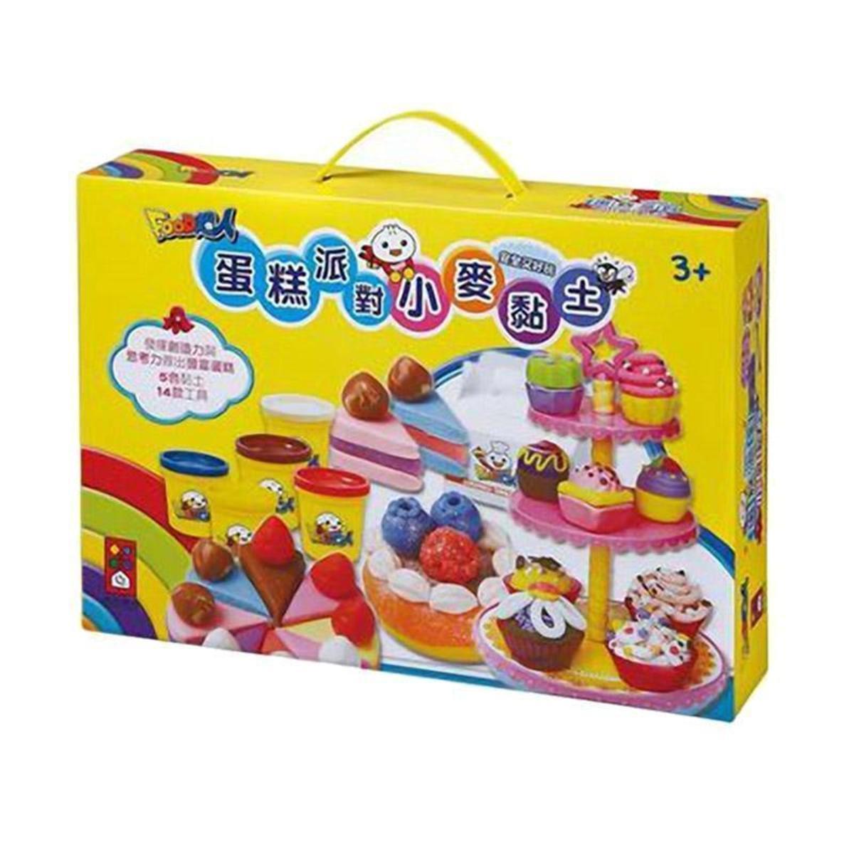 FOOD超人 蛋糕派對小麥黏土 台灣進口 (3歲以上)