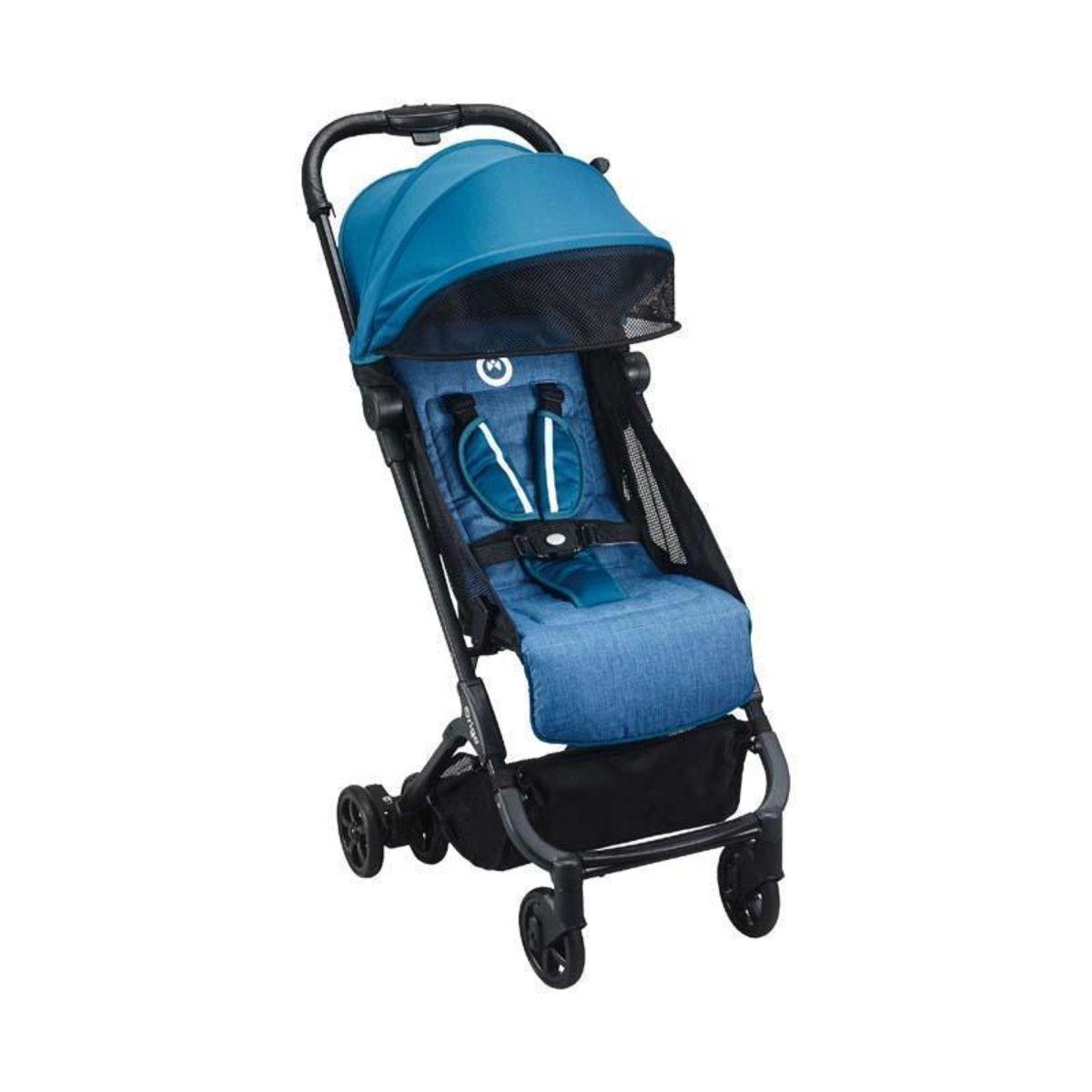 Bubble feather lightweight folding stroller 0-4 years British brands - Denim Blue