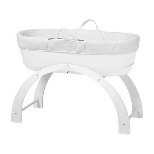 Shnuggle Dreami bassinets even rack suit - white