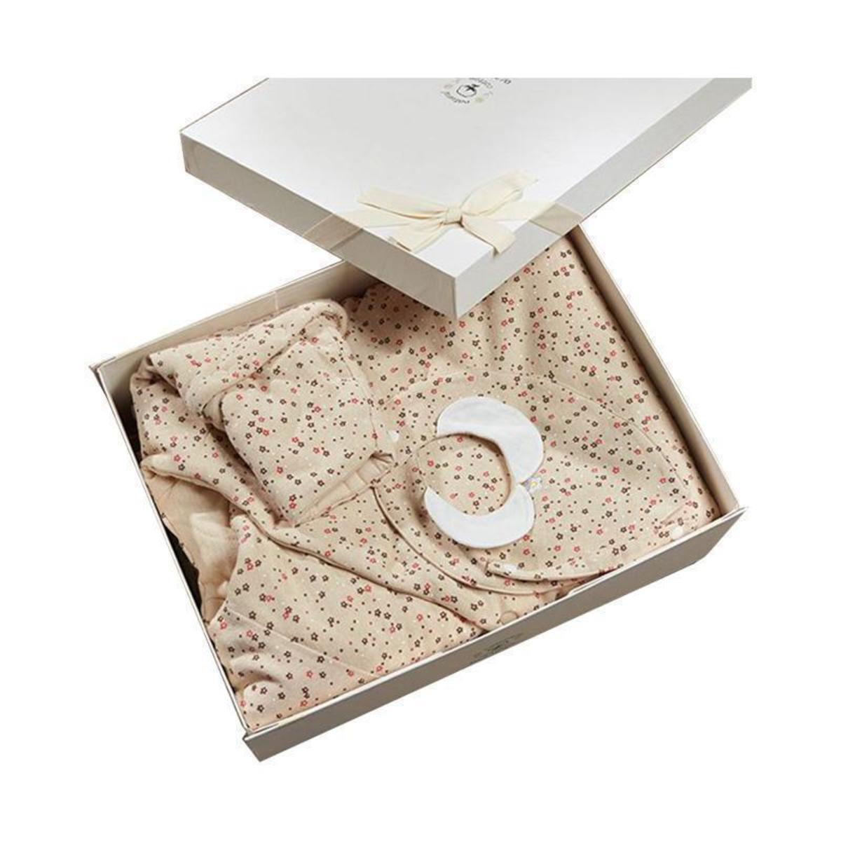 0/3 Baby Natural Cotton Long Sleeve Sleeping Bag and Bib 2 Piece Set (6-18 months) (2 models) - Garden tea party