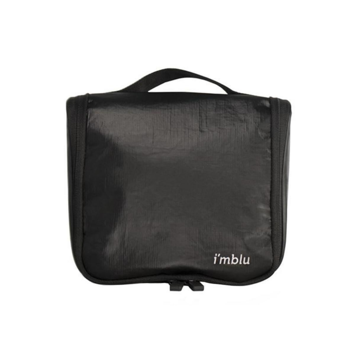 旅行專用化妝袋 收納袋 洗漱包 M 碼 (黑/白) - 黑色