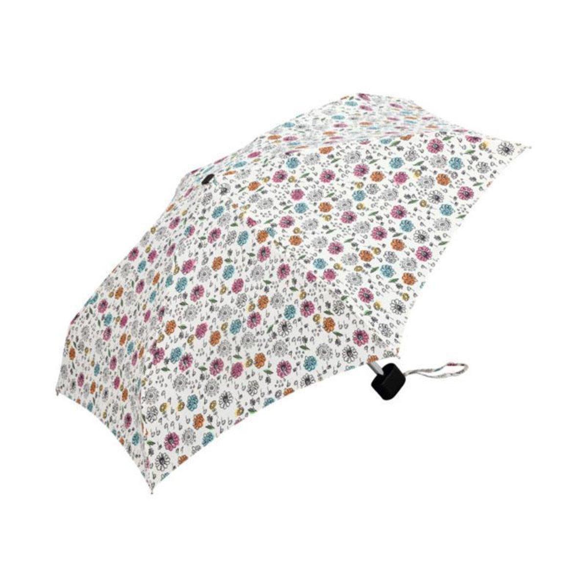 KiU Tiny Mini shifty cover anti-UV umbrella brand in Japan - Painted Flower Graffiti Flower